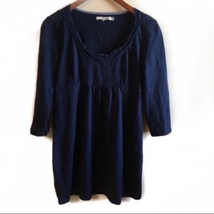 Boden 3/4 Sleeve Blue Tunic Size 8